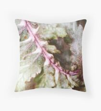 Japanese Painted Fern on Brick II Throw Pillow