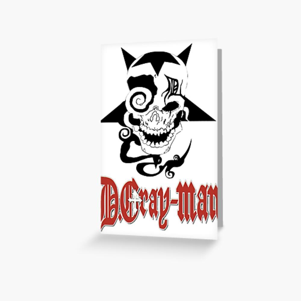 D Gray Man logo Greeting Card