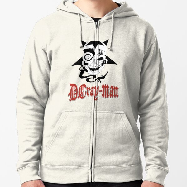 D Gray Man logo Zipped Hoodie