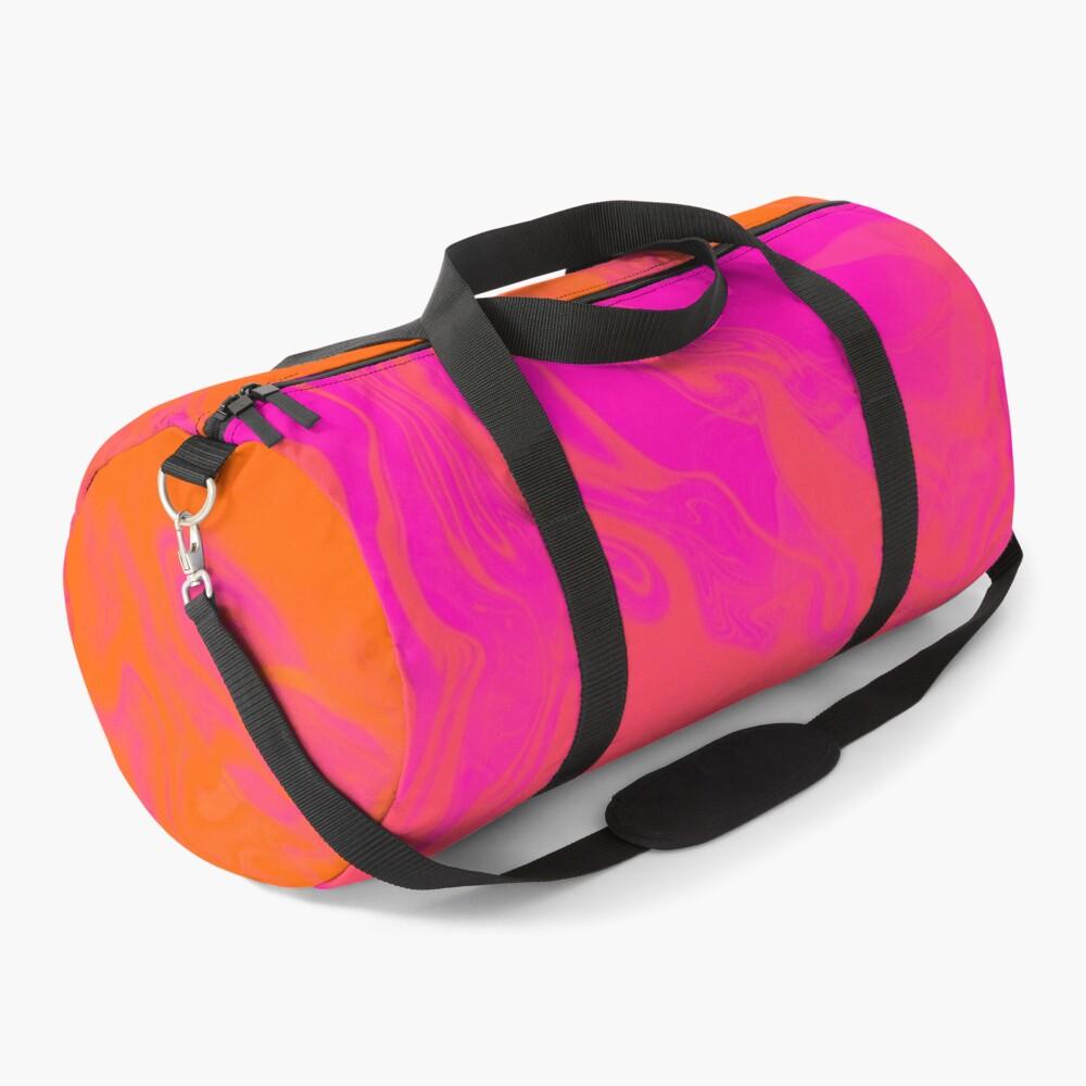 Infinity on Orange and Pink Duffle Bag