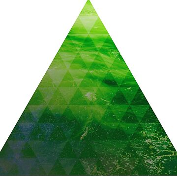 Green Pyramid landscape geometric by absolutewhite