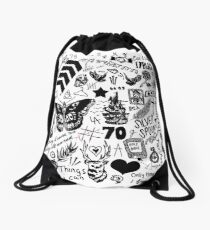 1D Tattoos Updated (2015) Drawstring Bag