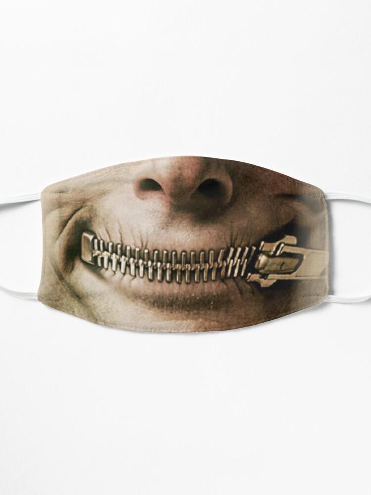 Alternate view of halloween zipper Mask