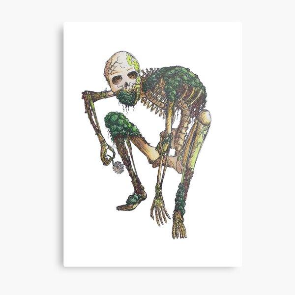 Earth Skeleton Metal Print