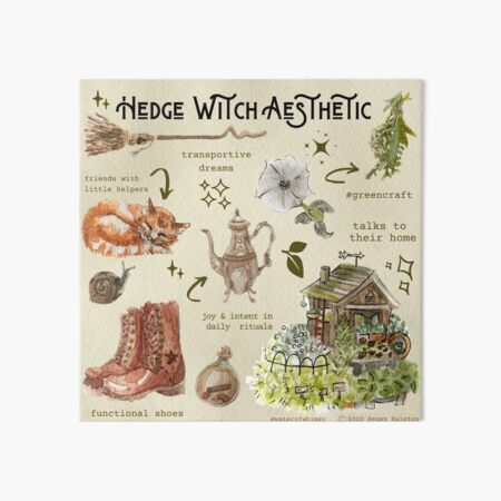 Witch Aesthetic Art Board Prints Redbubble