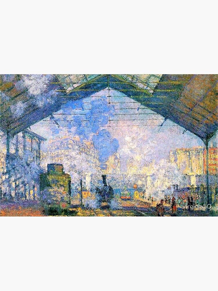 Skin Adhesive D Ordinateur Monet La Gare Saint Lazare Celebre Tableau Par Virginia50 Redbubble