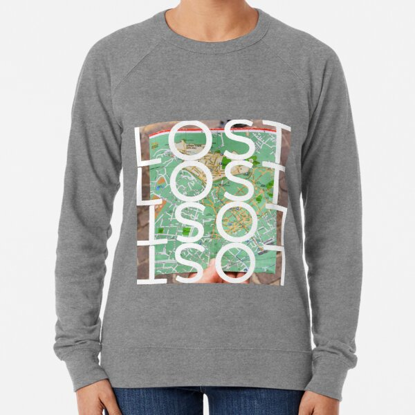 Lost while searching for directions on city map Lightweight Sweatshirt