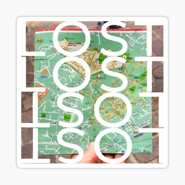 Lost while searching for directions on city map Sticker