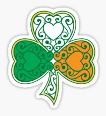 Shamrock and Heart Design Sticker