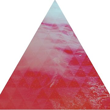 Red Pyramid landscape geometric by absolutewhite