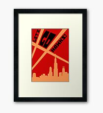 Searchlights Framed Print