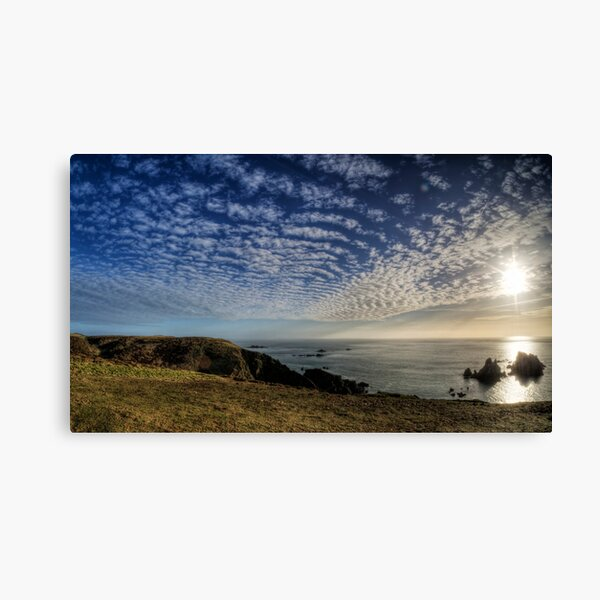 The Sun over the Gannet Rocks Canvas Print