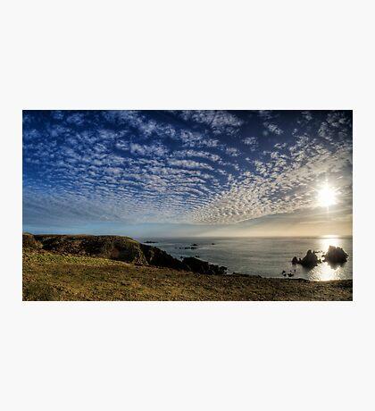 The Sun over the Gannet Rocks Photographic Print