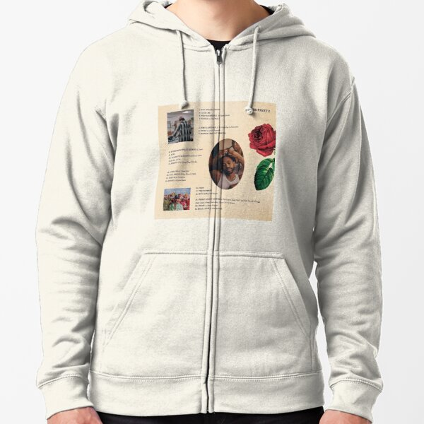 Big Sean Men Hoodie Single Again wake up and smell the roses Yellow