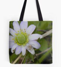 Spider on Blue Windflower Tote Bag