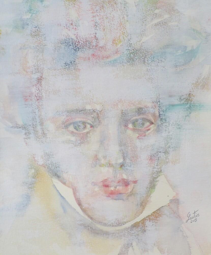SOREN KIERKEGAARD - watercolor portrait.2 by lautir