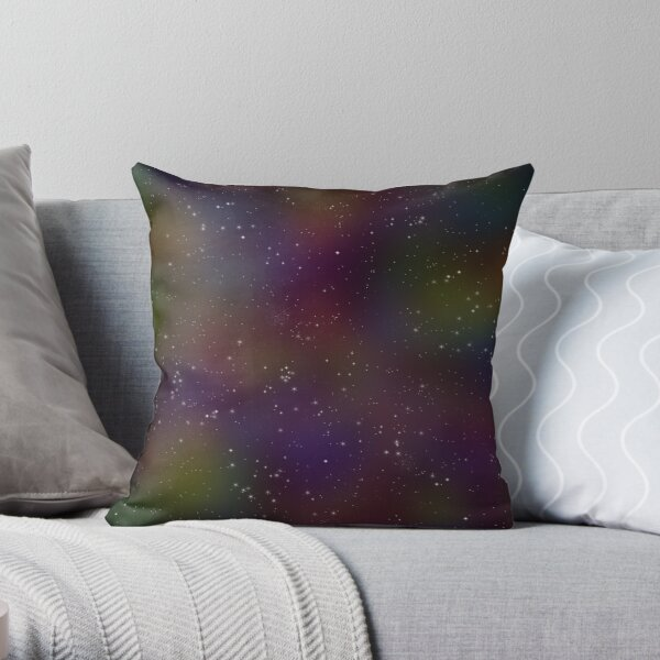 Sparkle Space in Rainbow Throw Pillow