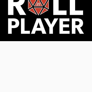 Roll Player Red d20 Sticker by NaShanta