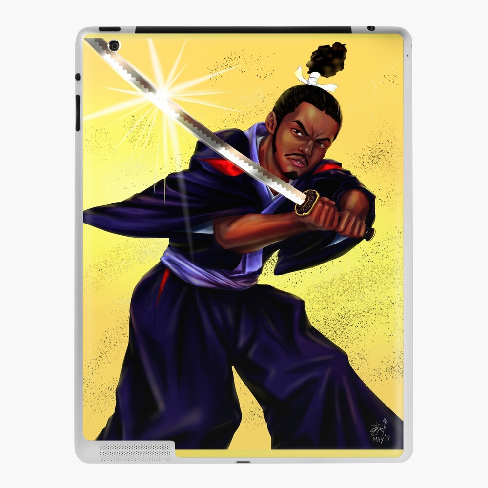 Yasuke The Black Samurai Ipad Case Skin By Jovak Redbubble Thomas lockley explores the japanese sojourn of the first african samurai for bbc world histories magazine. redbubble