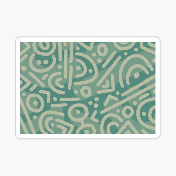 Blue Green Doodle Sticker
