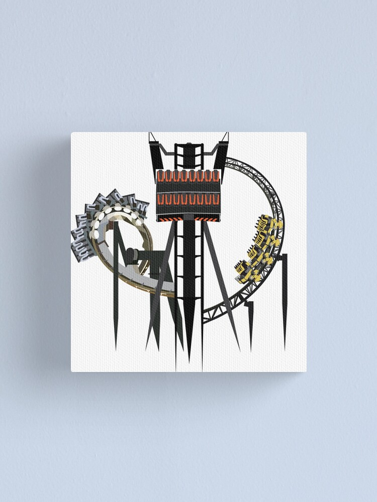 Alternate view of Alton Towers Coaster Trio Design Canvas Print