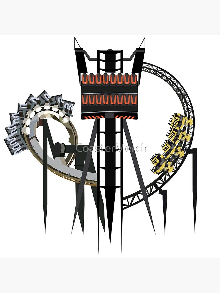 Alton Towers Coaster Trio Design by CoasterMerch