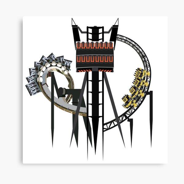 Alton Towers Coaster Trio Design Canvas Print
