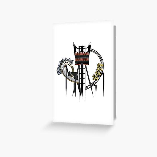 Alton Towers Coaster Trio Design Greeting Card