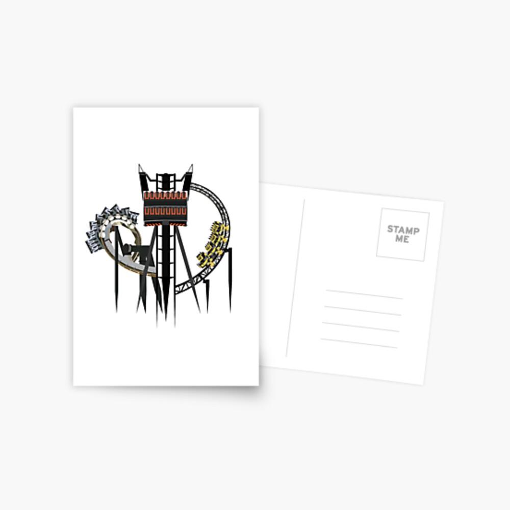 Alton Towers Coaster Trio Design Postcard