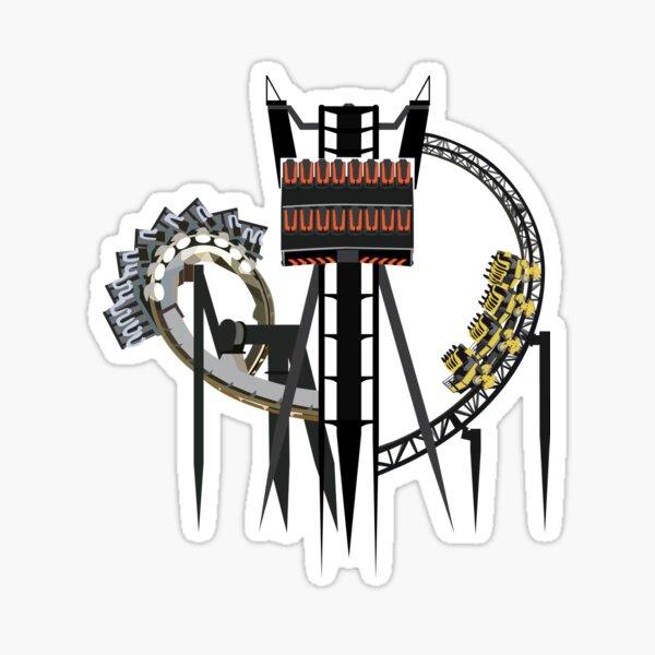 Alton Towers Coaster Trio Design Sticker