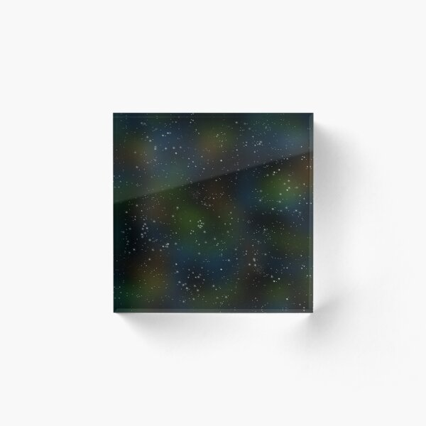 Sparkle Space in Blues 'n' Greens Acrylic Block