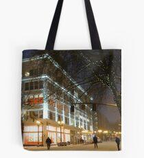 winter streetscape Tote Bag