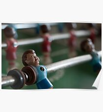 Foosball Player Poster