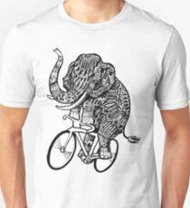Elephant Aztec on a Bicycle  T-Shirt