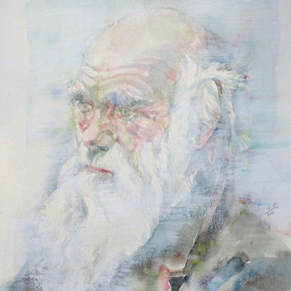 CHARLES DARWIN - watercolor portrait.6 by lautir
