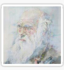 CHARLES DARWIN - watercolor portrait.6 Sticker