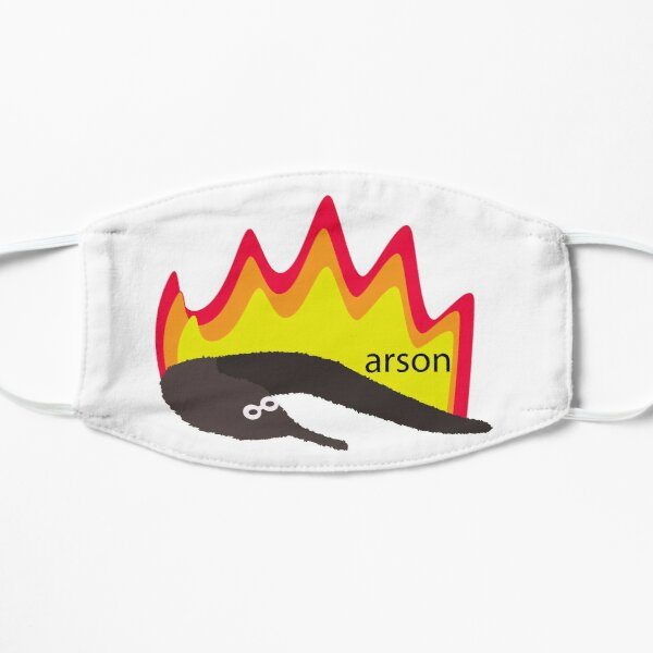 Arson Worm On A String Flat Mask