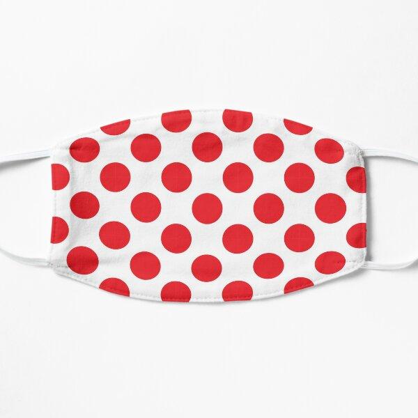 Red Polka Dot Jersey   Tour de France Pattern Flat Mask