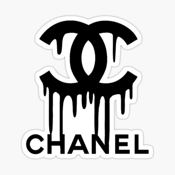 Channel Drip Logo in Black Sticker