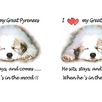 I love my Great Pyrenees by GreatPyrFancy