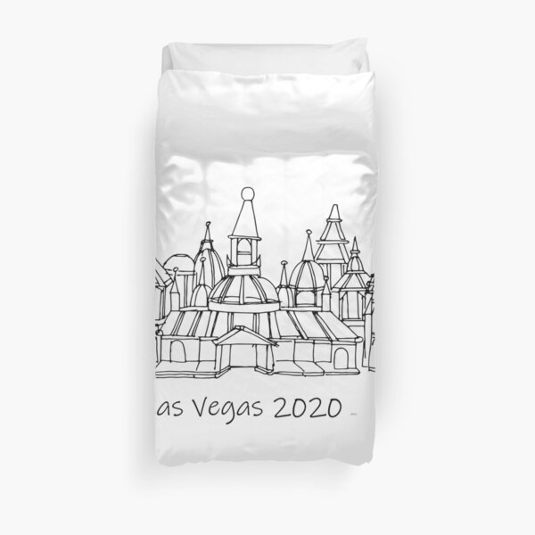 Las Vegas 2020 ---  TeresaTown Travel Accessories, Gifts, Clothes, Activities, Luggage and More Duvet Cover