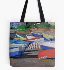 Almuñecar Boats Tote Bag