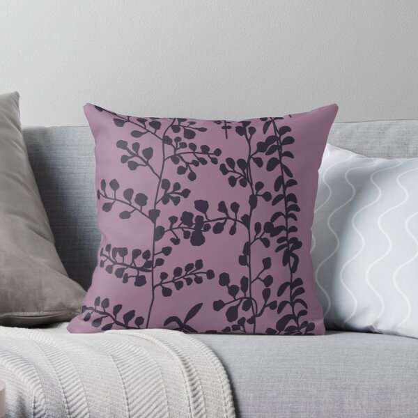 Bella's Purple Bed Spread Print  Throw Pillow