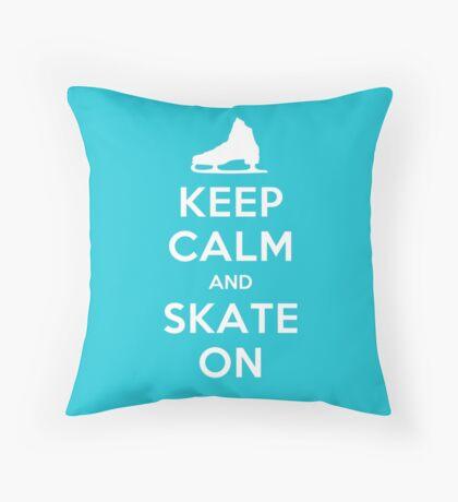 Keep Calm and Skate On Throw Pillow