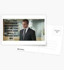 Harvey Specter Suits Postcards
