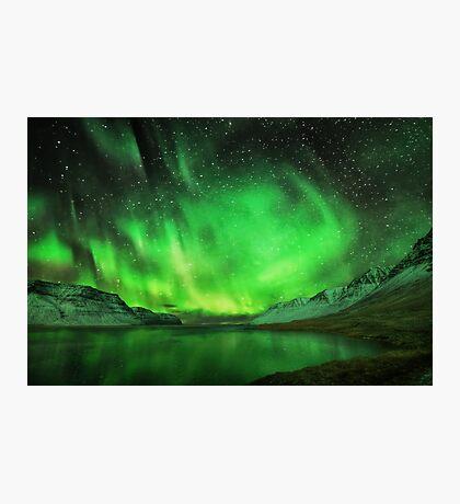 Aurora over a fiord Photographic Print
