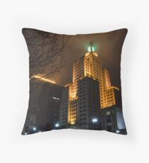 """""""Superman Building"""" Downtown Providence Throw Pillow"""