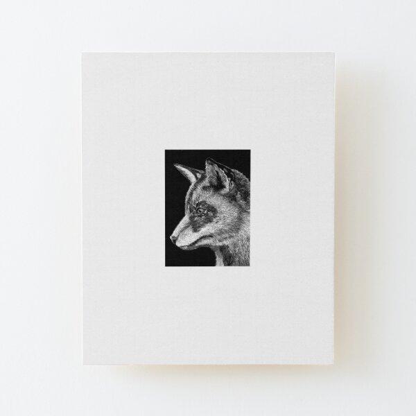 Fox Wood Mounted Print