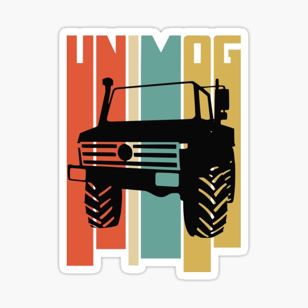 Unimog Retro Sticker