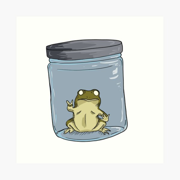Frog in a Jar  Art Print